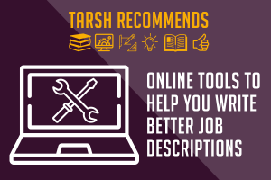Online tools to help you write better job descriptions